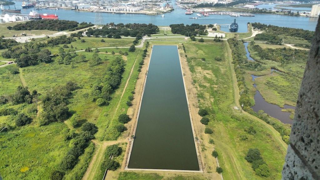 Houston, TX USA - San Jacinto Monument View